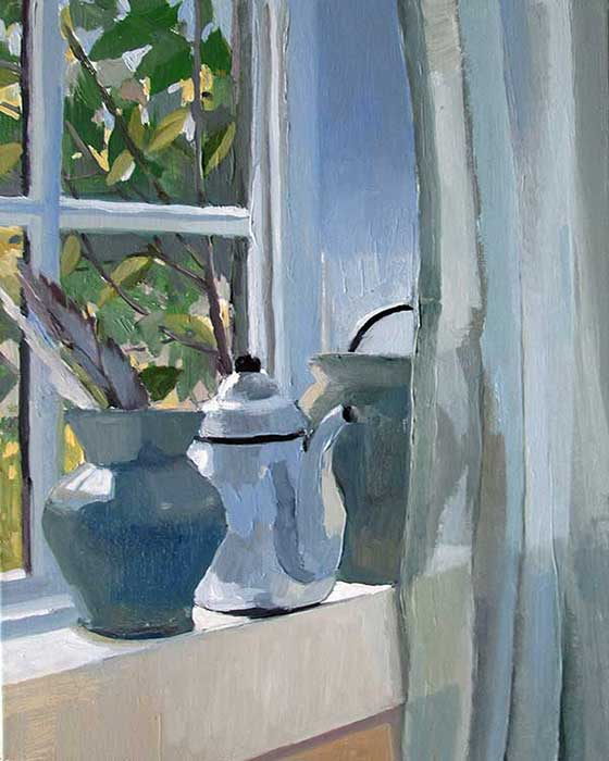 Pots on a Windowsill